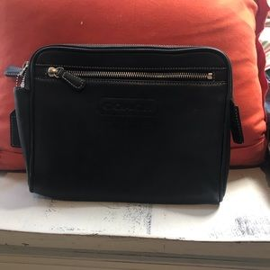 Vintage Coach Leatherwear Zip Clutch Black Rare